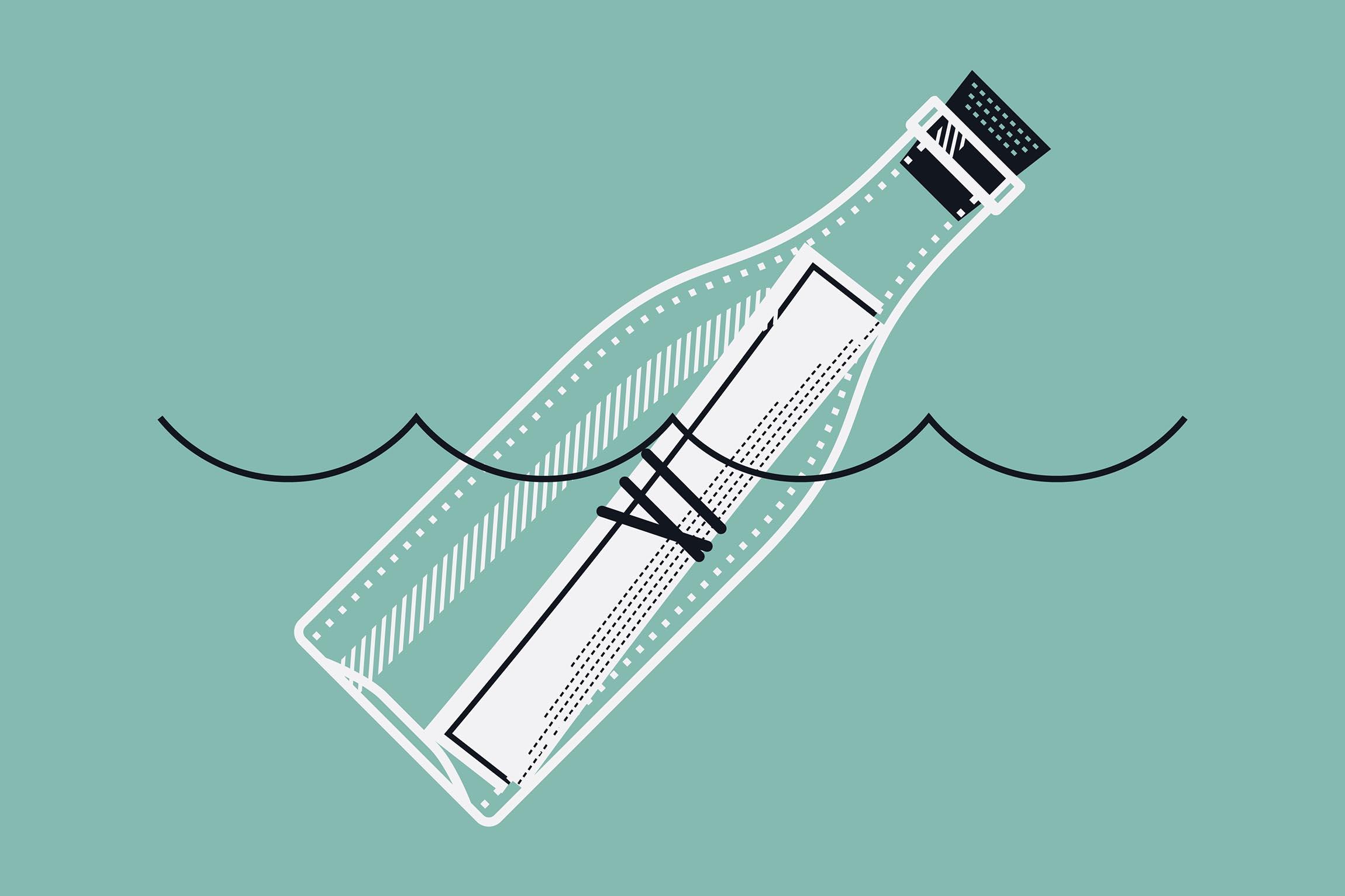 """Nouvelle """"Le secret de la bouteille à la mer"""" - Le Comptoir des Lecteurs"""